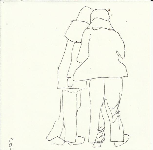 Wo geht es hin (c) Zeichnung von Susanne Haun