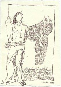 Es geht voran - Engel (c) Zeichnung von Susanne Haun