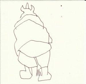 Nashorn - Version 7 (c) Zeichnung von Susanne Haun