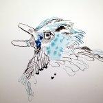 Ich baue das Bild von oben auf (c) Zeichnung von Susanne Haun