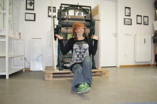 Lieferung meiner neuen Radierpresse (c) Selbstfoto von Susanne Haun