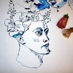 Der Hibiskus (c) Zeichnung von Susanne Haun