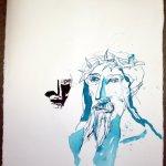 Der Sohn Gottes - Entstehung Zeichnung von Susanne Haun