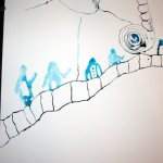 Die Brücke (c) Zeichnung von Susanne Haun