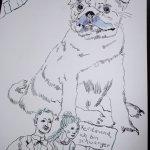 Verbindung zur Rolle - Entstehung Mops (c) Zeichnung von Susanne Haun