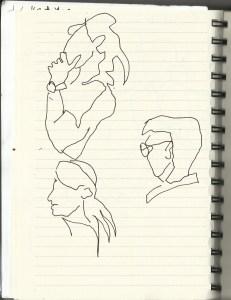 n einer Linie (c) Zeichnung von Susanne Haun