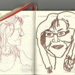 Selbstportrait Tagebuch 20. Woche (c) Zeichnungen von Susanne Haun