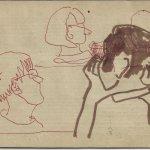 Die Zuhörerin (c) Zeichnung von Susanne Haun