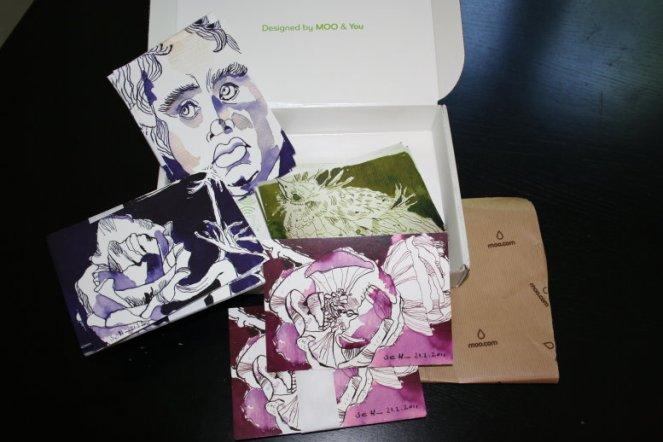 Neue Postkarten mit Zeichnungen von mir für Postcrossing (c) Foto von Susanne Haun