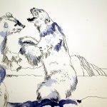 Eisbären in der Arktis - 30 x 40 cm (c) Zeichnung von Susanne Haun