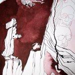 Detail Abgrund - Ich stürze in den Abgrund - 65 x 50 cm (c) Zeichnung von Susanne Haun