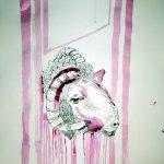 Entstehung Rollte ein Schafskopf auf die Erde (c) Zeichnung von Susanne Haun