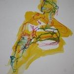 Üppiger Akt - liegend - 40 x 30 cm - Version 3 (c) Zeichnung von Susanne Haun