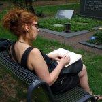 Skizzieren auf dem Melatenfriedhof (c) Foto von Gabi