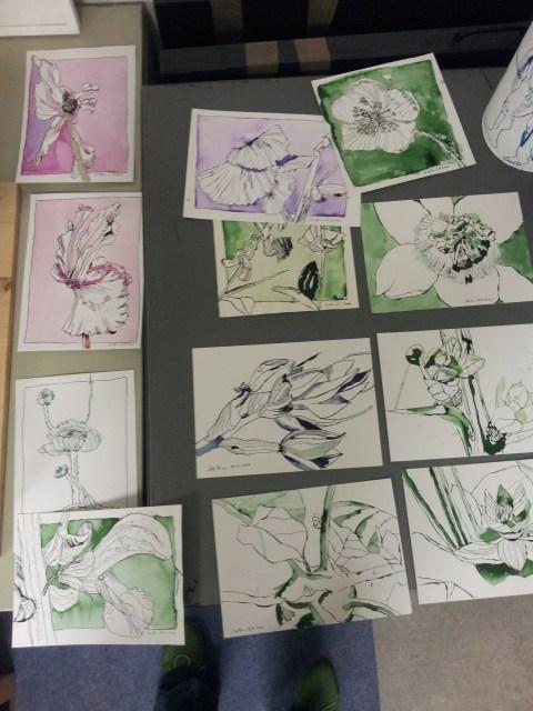Zusammenstellung Blumenzeichnungen (c) Susanne Haun