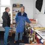 Jürgen und Jörg besprechen Jörgs Arbeit (c) Foto von Susanne Haun