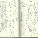 Selbstportrait Tagebuch Mai 2013 (c) Zeichnung von Susanne Haun