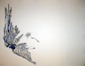 Entstehung Stillleben mit totem Vogel - 50 x 65 cm (c) Zeichnung von Susanne Haun