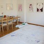 Zweite Überzeichnung Leinwand für Grimma 450 x 200 cm (c) Foto von Susanne Haun