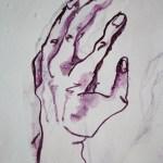 Nun bin ich zufrieden (c) Zeichnung auf Leinwand von Susanne Haun