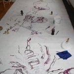 Überblick (c) Zeichnung auf Leinwand von Susanne Haun