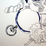Das Vergehen der Zeit - Ausschnitt Uhr - Entstehung Zeichnung (c) Susanne Haun