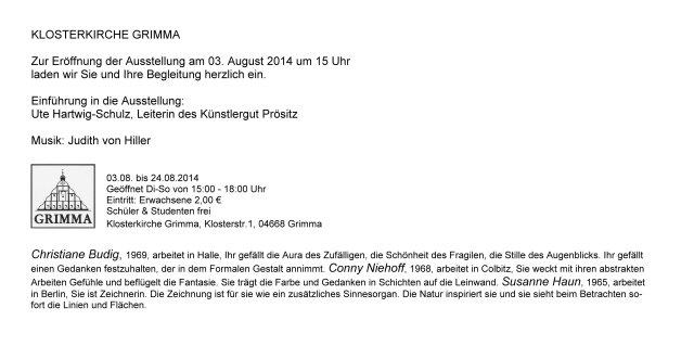Informationen zur Ausstellung ARTenVIELFALT in der Klosterkirche Grimma