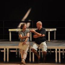 Im Gespräch - Jürgen Küster alias Buchalov und Ute Hartwig Schulz (c) Foto von M.Fanke
