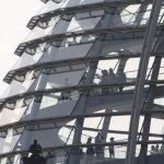 Blick von der Spreebrücke auf den Reichstag (c) Foto von Susanne Haun