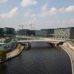 Blick von der Spreebrücke zum Hauptbahnhof (c) Foto von M.Fanke