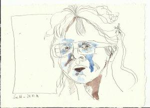 Ich hell quer (c) Zeichnung von Susanne Haun