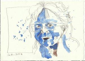 Ich dunkel quer (c) Zeichnung von Susanne Haun