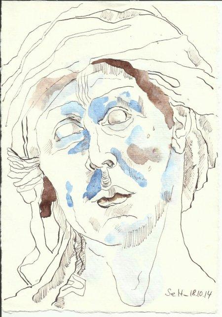 Van Eyck nach Walhalla (c) Zeichnung von Susanne Haun