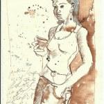 Tagebucheintragungen 1.7.2007 (c) Zeichnung von Susanne Haun