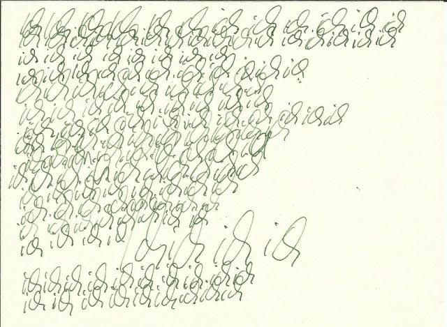 Ich - 12 x 17 cm - Tusche auf Burgund Bütten - Vers. 1 (c) Zeichnung von Susanne Haun