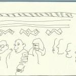 Marokko Teppichmanufaktur (c) Zeichnung von Susanne Haun