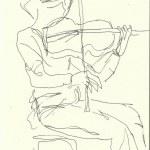 Im Konzerthaus - Geigerin (c) Zeichnung von Susanne Haun 0011