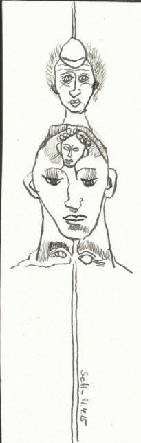 Nachhall der Gedanken (c) Zeichnung von Susanne Haun