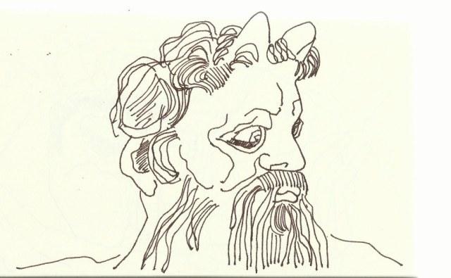 Moses mit Hörner (c) Zeichnung von Susanne Haun