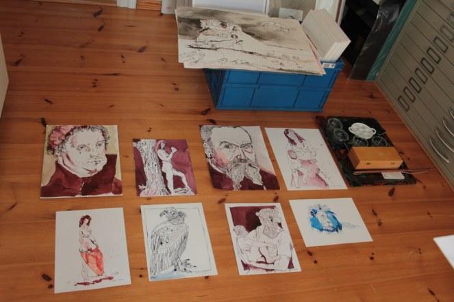 Auswahl der Arbeiten für die Wittenberger Kunstwege (c) Susanne Haun