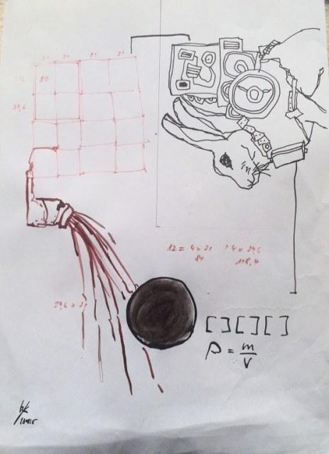 Weggegossen No. 13 a (c) Zeichnung von Jürgen Küster