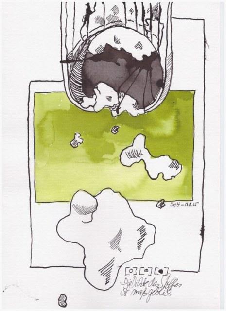 Weggegossen No. 13 (c) Zeichnung von Susanne Haun