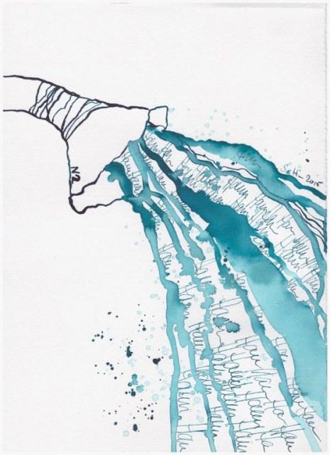 Weggegossen No. 21 b (c) Zeichnung von Susanne Haun