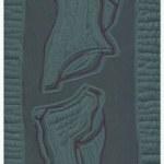 Zusammenhang - Zusammenbruch (c) Linolschnitt von Susanne Haun