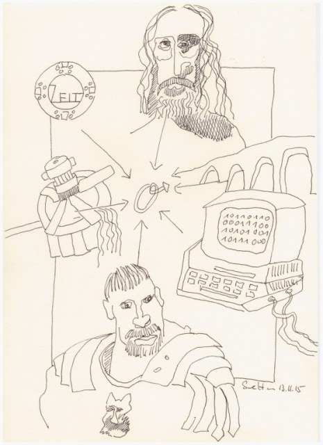 Das Jahr Null 13.11.2015 (c) Zeichnung von Susanne Haun