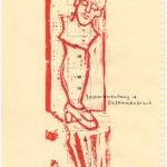 Zusammenbruch - Zusammenhang, Druck 2 ( (c) Linolschnitt von Susanne Haun