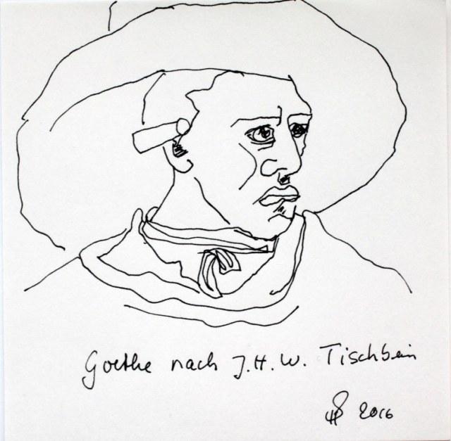 Goethe nach Tischbein (c) Zeichnung von Susanne Haun