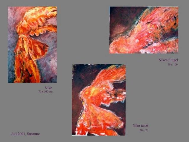 iationen der Nike von Samothrake - 2002 (c) Gemälde von Susanne Haun