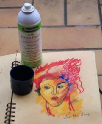10. Schritt - Pastell Portrait (c) Zeichnung von Susanne Haun
