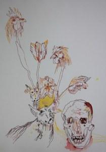 Ein Strauß Tulpen (c) Zeichnung von Susanne Haun